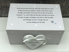 Personalised LARGE Memory Box ~ BABY LOSS ~ Any Name ~ Bereavement In Memory Of - 253464934342